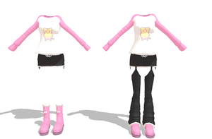 MMD Kitty Outfit Download by 9844