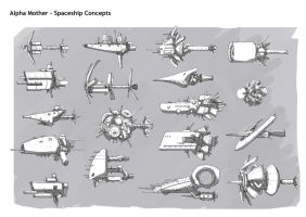 Portfolio Spaceships by DarkMechanic