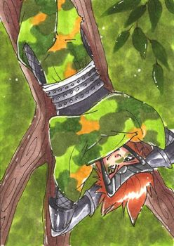ACEO - Just Hangin' by Orcagirl2001