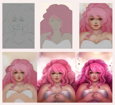[Step by Step] Rose Quartz by hientruong95