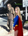 Supergirl in The Bum's Rush by McGheeny