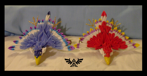 Skyward Sword loftwing kanzashi 4 by EruwaedhielElleth
