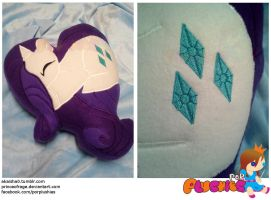 Rarity Heart Pillow by PrinceOfRage
