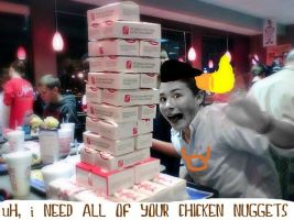 i NEED ALL OF YOUR CHICKEN NUGGETS by XIn-My-Darkest-HourX