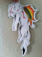 Amaterasu paper child by OneHell-ofaButler
