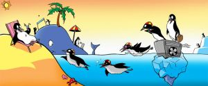 Penguin Holiday by DavieDave