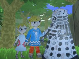 Link and Aryll's discovery by Animedalek1