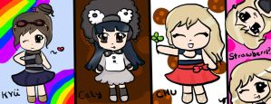 KYU, CHU, Cely and Strawberri by Cici-Art