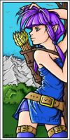 -colouring- Elven Archer by Kai-is-mine