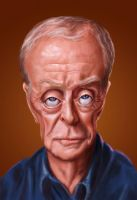 Sir Michael Caine by edvanderlinden
