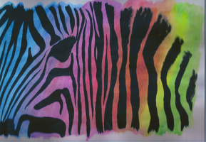 zebra rainbow by horsy1050