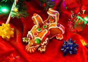 The Gingerbread dragon whelp by The-SixthLeafClover