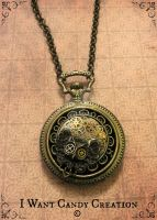 HANDMADE - Steampunk Owl Pendent by IWantCandyCreation
