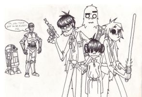 Gorillaz Star Wars by Kelden17