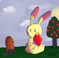 Day 89 - Plusle's Lunch Visitor by LinkSketchit