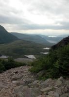 Climbing Gros Morne 5 by LucieG-Stock