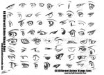 68 Different Anime Manga Eyes by gh07