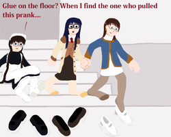 Roberta, Yomiko and Shion Pranked (Request) by TobyMcDee