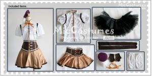 Puella Magi Tomoe Mami Cosplay Costume by miccostumes