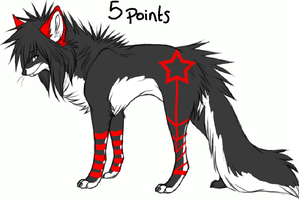 Wolf adoptable 6 -CLOSED- by MooMoo-Adopts