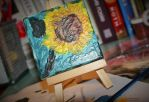 Vincent van Gogh practice - sunflower by Mrs-Reed