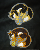 FOR SALE magical Fox patches - Golden trim version by goiku