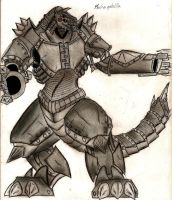 MechaGodzilla by MonsterKingOfKarmen
