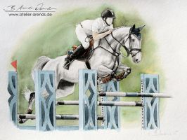 Jumping Horse by AtelierArends