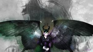 Maleficent: Through the pages wallpaper by kaki-tori