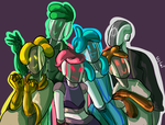 MORE Smiley Slime Bots by 0SkyKat0