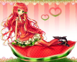 Watermelonicious by Paulinarts