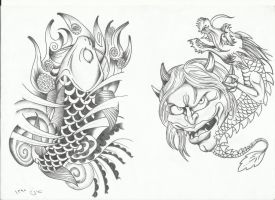 tattoo flash by sasan-ghods