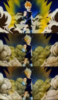 Vegeta sacrifice original/version 1/version 2 by Alex-DENIS