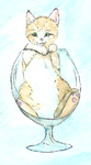 Cat in a glass? by Pinkie-Pichu