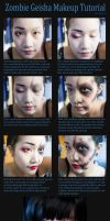 Zombie Geisha Makeup Tutorial by Haych