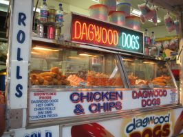 Dagwood Dogs at the carnival by girlpsychic