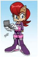 Sally in Rouge's Sonic Heroes outfit by LeatherRuffian