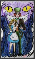 Alice and the Hatter by elfinpirate