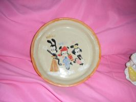 Self-Painted Animaniacs Plate by KessieLou
