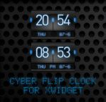 Cyber Flip Clock for XWidget by boyzonet