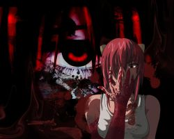 Wallpaper: Elfen Lied by AkumuDesu