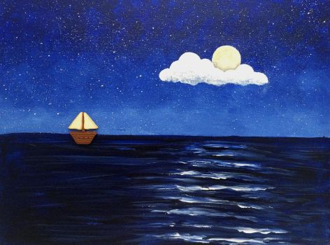 Ship in the Moonlight by noellewis