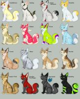 FursonaAdoptables Set1 by feliara