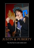 Justin Bieber hitting puberty by KooboriSapphire