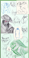 The Great Sketch Dump 1 by LeoPanthera