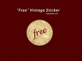 Vintage Paper Sticker PSD by SuTegin
