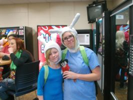 Big and Little Fionna Cosplay-Kotoricon 2014 by MelloChello195