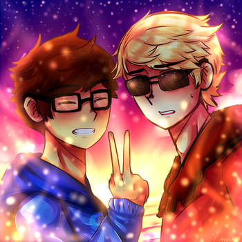 [Collab] John and Dave by Nordlige-Oyene