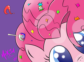 Pinkie Pie and Confetti by max301