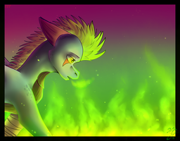 Radioactive by Fire-Flame-Fan